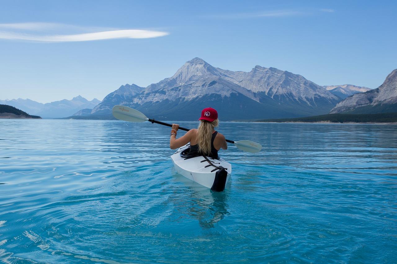 girl kayak