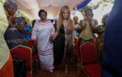 Merck Foundation CEO together with The First Lady of Central African Republic Meets 100 Infertile Women