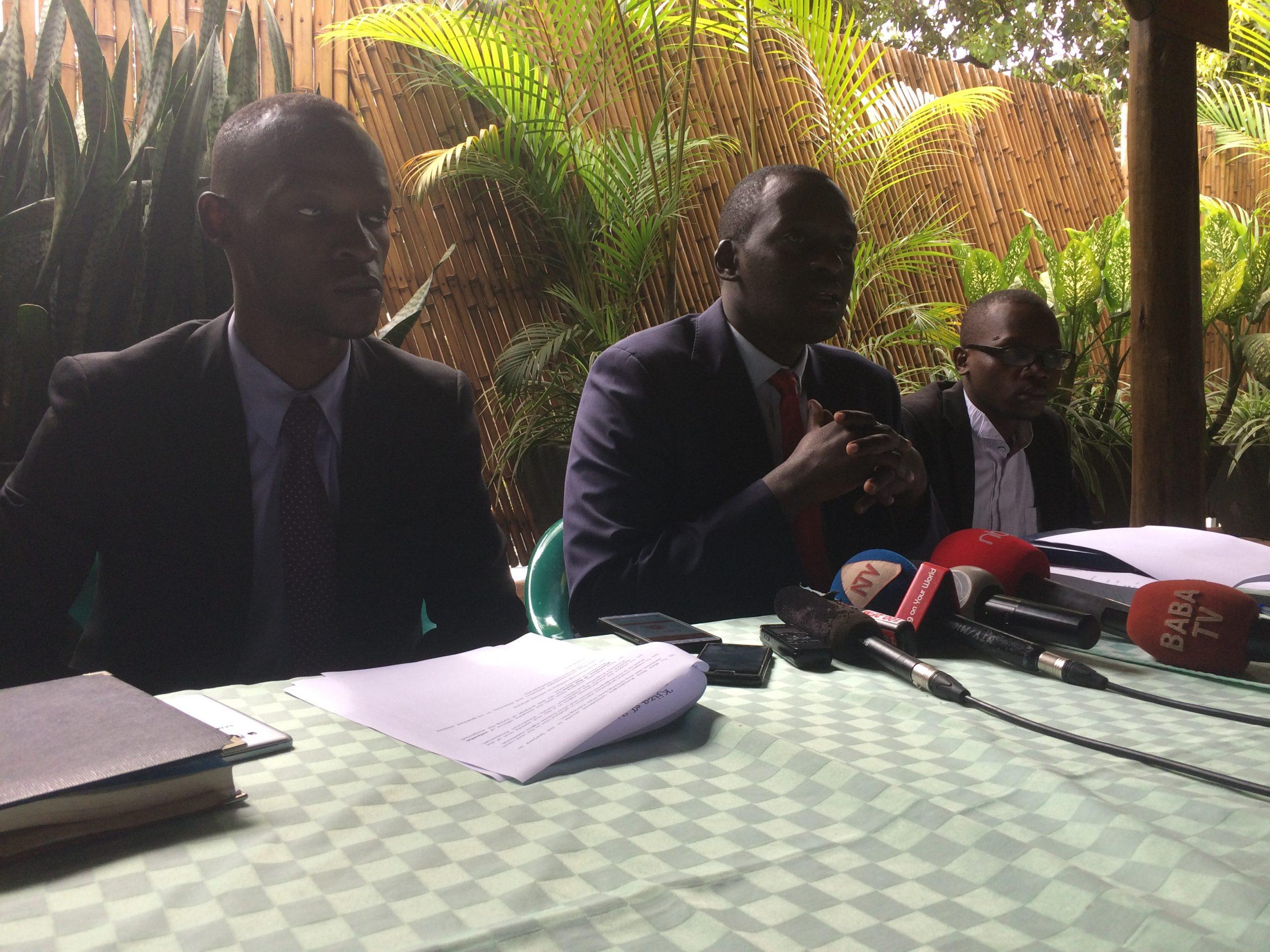 Kavuma Derrick, Aron Kiiza and Esomo Peter Simon