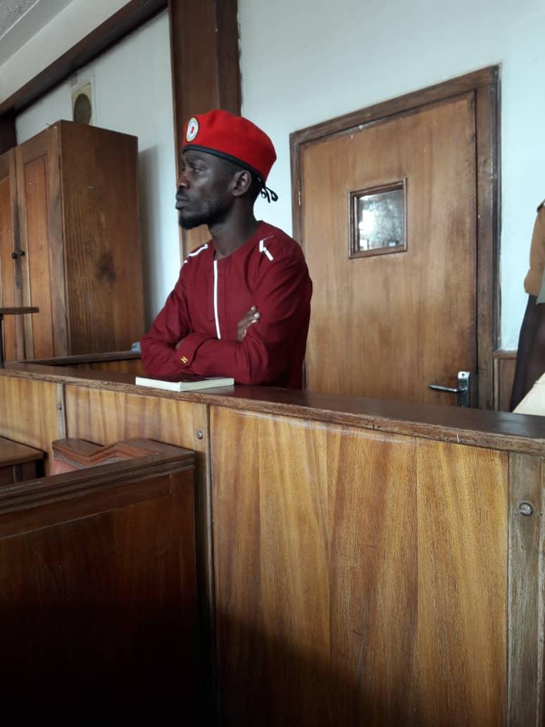 Kyandondo East MP Robert Kyagulanyi Sentamu In Court