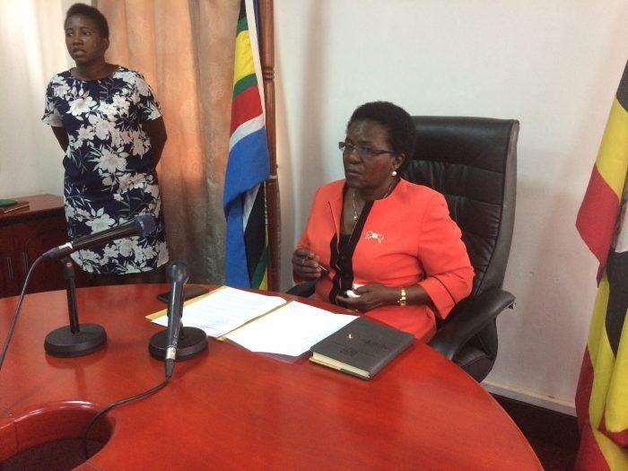 Transport And Works Minister Of Uganda, Azuba Ntege.
