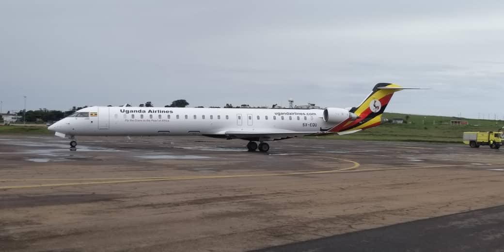CRJ-900 Bombardier newly bought by Uganda govt.