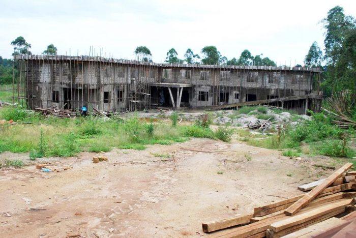 Stalled Kyotera District Headquarters.Photo by Davis Buyondo