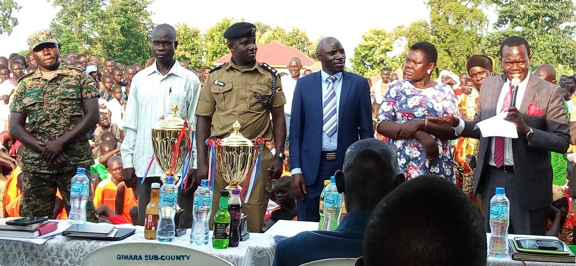 Top Leaders of Obongi Addressing People