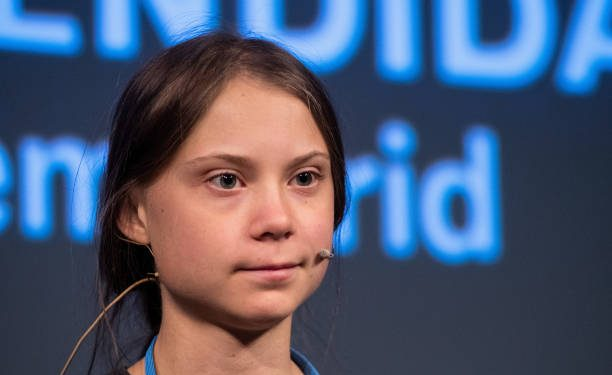 MADRID, SPAIN - 2019/12/06: Swedish climate activist Greta Thunberg attends a press conference at 'La Casa Encendida'. Greta arrived to Madrid for the COP25 Climate Change Summit and to take part in the climate march demanding actions against climate change. (Photo by Marcos del Mazo/LightRocket via Getty Images)